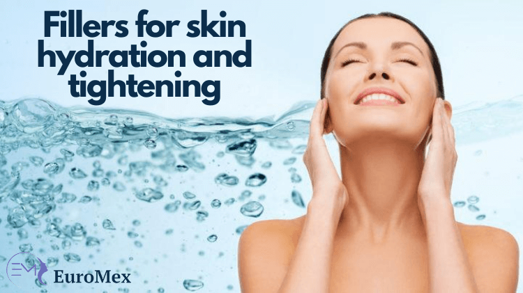 What fillers can be used for the face and neck to add hydration and tightness?